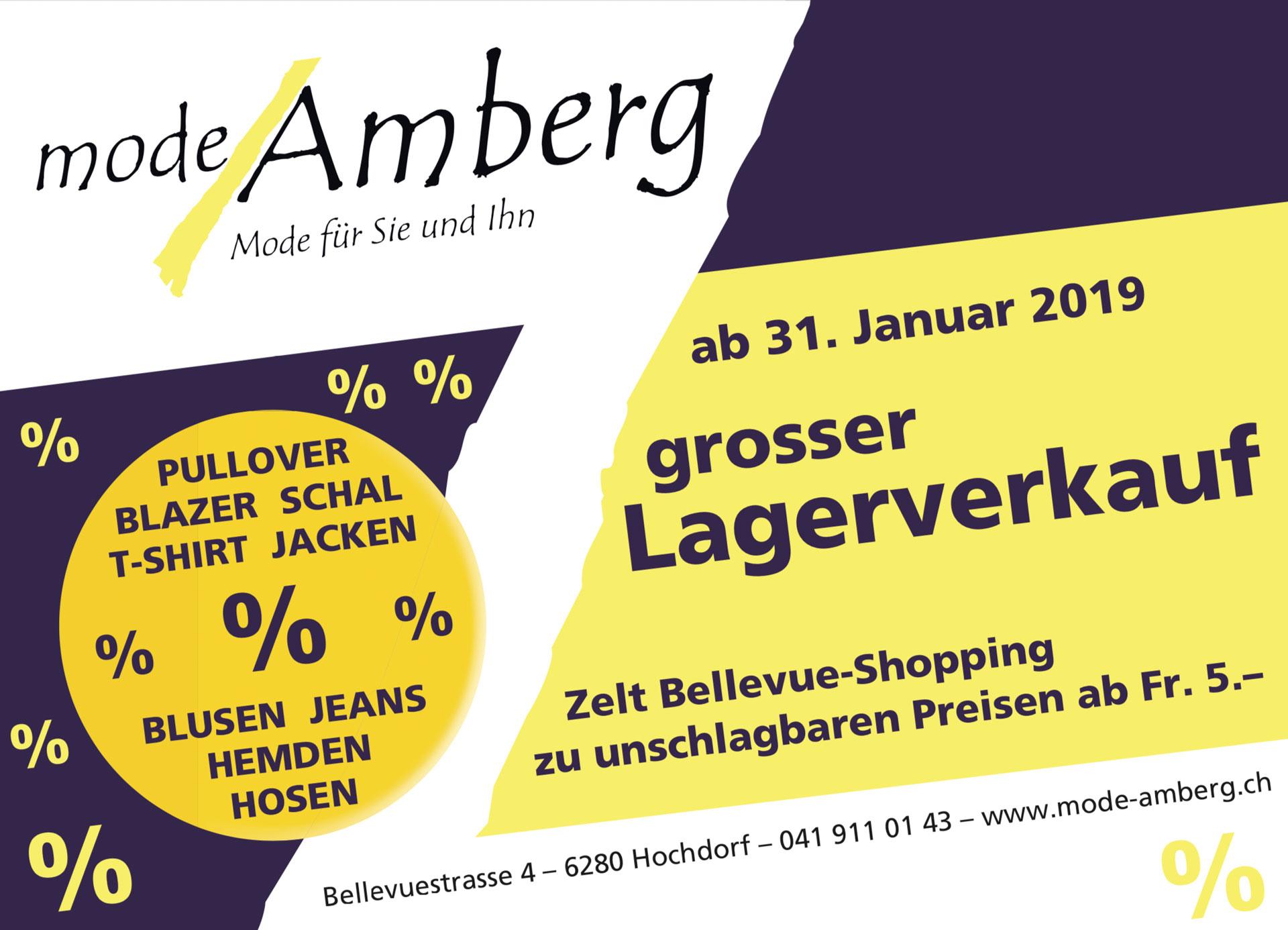 Grosser Lager Verkauf ab 31. Januar 2019