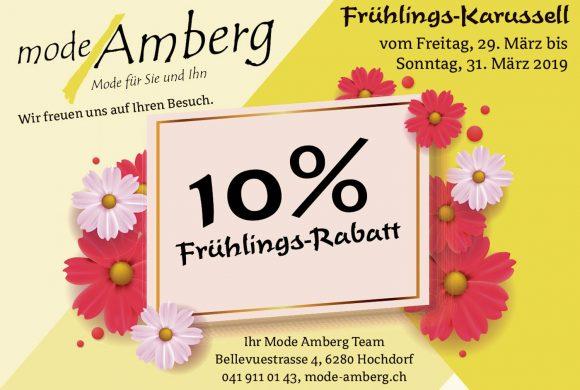 10% Frühlings-Rabatt