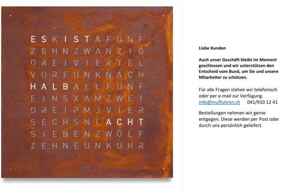 Wir sind erreichbar unter info@muffuhren.ch    041/ 910 12 41