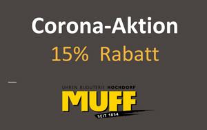 Corona-Aktion 15% rabatt